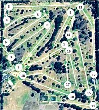 Glen Innes Golf Course layout